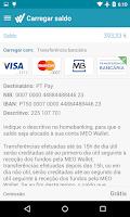 Screenshot of MEO Wallet