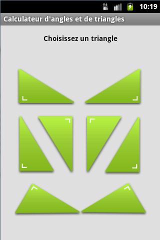 Calcul des angles et triangle