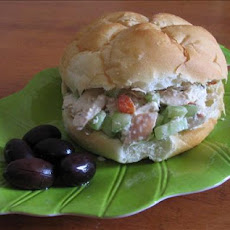 Mediterranean Chicken Salad Sandwiches