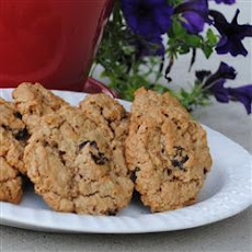 Walnut Cherry Oatmeal Cookies