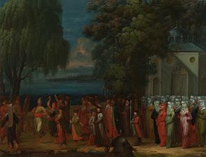 RIJKS: Jean Baptiste Vanmour: Armenian Wedding 1737