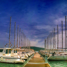 Pirovac Lučica by Branko Meic-Sidic - Transportation Boats ( sky, hdr, boats, dramatic, croatia, pirovac )