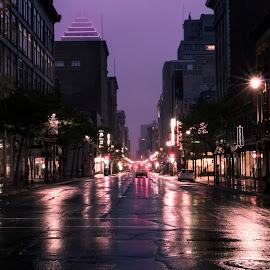 Saint Cathrine at 6am while raining  by Faisal Abuhaimed - City,  Street & Park  Street Scenes ( Urban, City, Lifestyle )