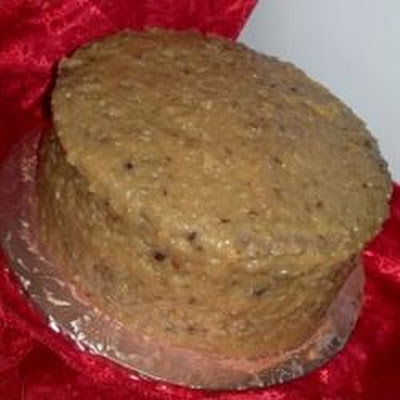 German Chocolate Frosting with Walnuts