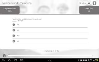 Screenshot of Learn Algebra I