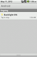 Screenshot of Backlight ON