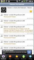 Screenshot of PodDroid for Podcast