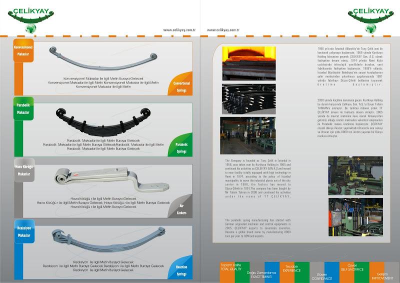 4 Sayfalık Broşür (katalog) Çelikyay