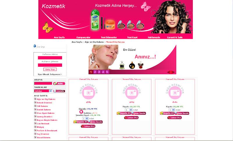 Kozmetik Alışveriş sitesi ASP tasarım lütfen YORUM özellikle bayan arkadaşlar...!