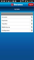 Screenshot of Banamex Mobile
