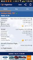 Screenshot of FlightView Free Flight Tracker