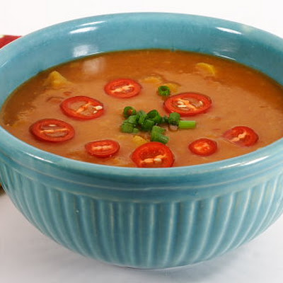 Southwestern Yellow Split-Pea Soup