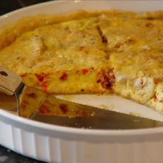 Roasted Bell Pepper & Artichoke Quiche
