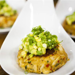 Crab Cakes With Corn & Avocado Relish