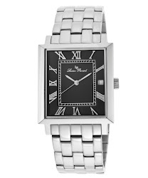 Lucien Piccard Men's Bianco Black Dial Stainless Steel