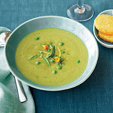 Asparagus Soup with Parmesan Shortbread Coins