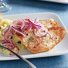 Lemon Tilapia with Garlic-Parsley Couscous
