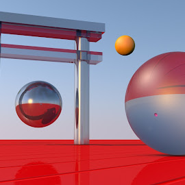 Spheres of Red Infinity by Lux Aeterna - Illustration Products & Objects
