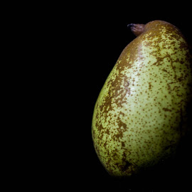 Pear by Said Sotos - Food & Drink Fruits & Vegetables ( food, dark, darkness, pear )