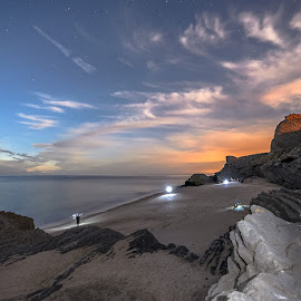 Under The Stars by Mauro Correia - Landscapes Beaches ( stars, sea, night, beach, nightscape )