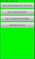 Screenshot of Budget  Helper