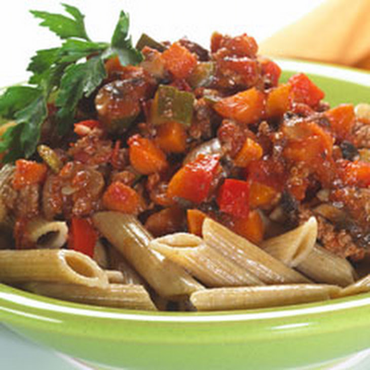 Vegetable-beef Bolognese