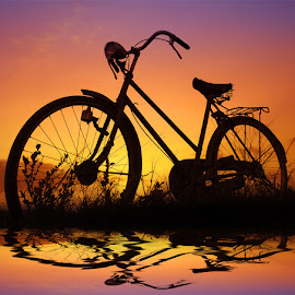 pit jengki by Indra Prihantoro - Transportation Bicycles ( jengki, sunset, sunrise, pit, bicycle )