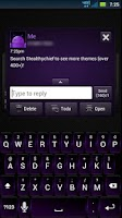 Screenshot of GO SMS Dark Purple Theme