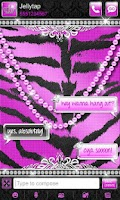 Screenshot of Luxury Theme Purple Tiger SMS★