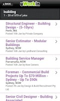 Screenshot of Construction Jobs