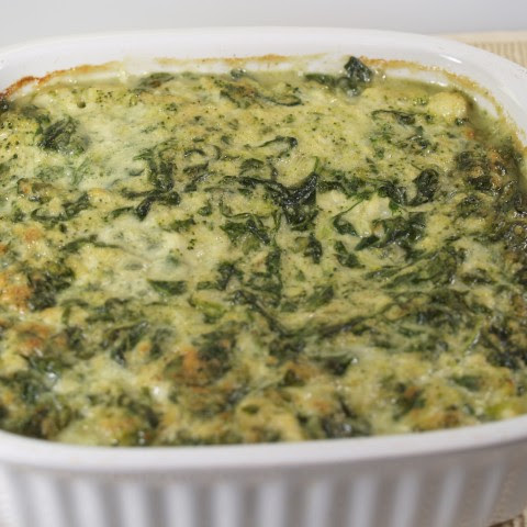 Cauliflower And Broccoli Flan With Spinach Bechamel