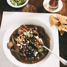 Beef Chili with Ancho, Mole, and Cumin