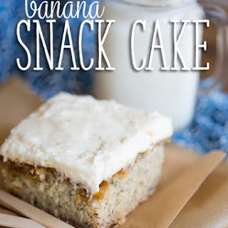 Banana Cake with Cream Cheese or Brown Butter Frosting {You Pick!}