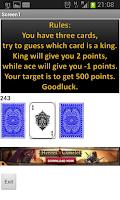 Screenshot of king guess