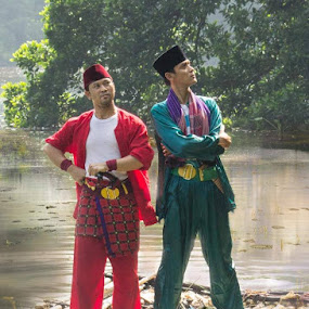the two heroes by Yuni Herawati - People Portraits of Men