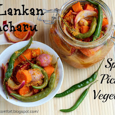 Sri Lankan Achcharu (Spicy Pickled Vegetables)