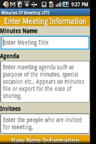 Minutes Of Meeting PRO