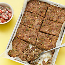 Lamb And Bulgur Meatloaf With Tomato And Yoghurt Salsa