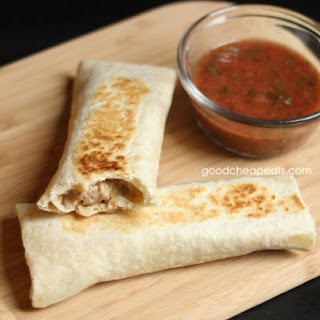 Chicken, Bean, and Cheese Burritos
