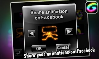 Screenshot of Glowing -create fun animations