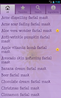 Screenshot of Homemade facial masks