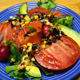 Summer salad by Mary Smiley - Food & Drink Plated Food ( salad, tomato,  )