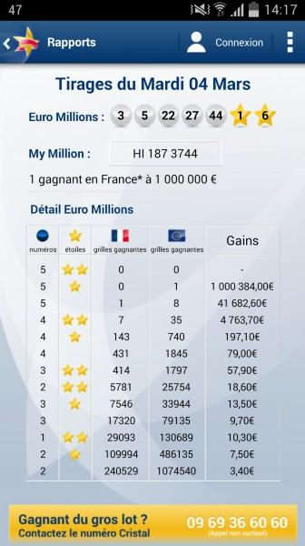 Euro Millions - My Million Screenshot