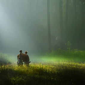 Morning Serenity by Bli Gede Bagoes IGPWT - People Street & Candids