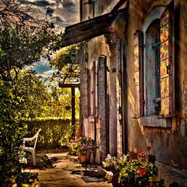 Casello by Luigi Esposito - Buildings & Architecture Homes ( railroad, windows, house, rays, sun )