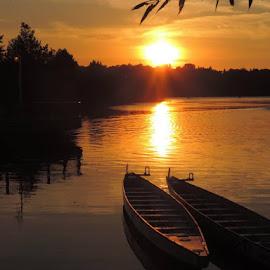 Sunset at Bay front by Susanne Swayze - Landscapes Sunsets & Sunrises