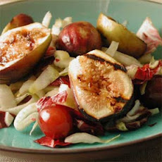 Warm Salad of Grilled Figs, Grapes, and Bitter Greens