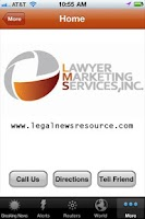 Screenshot of Legal News Resource