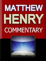 Screenshot of Matthew Henry's Commentary