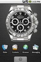 Screenshot of Rolex Black Large Widget 4x3